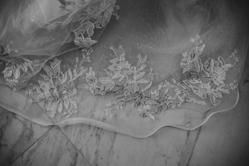 Elopement Photography, detail shot of veil