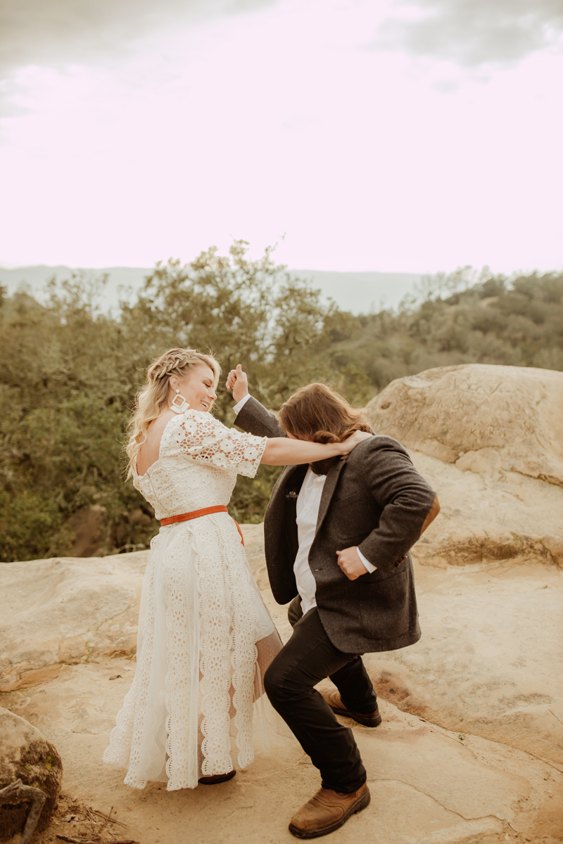 Elopement Photography, couple dancing together