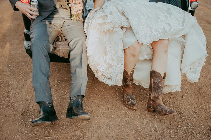 Elopement Photography, detail shot of couple's cowboy boots