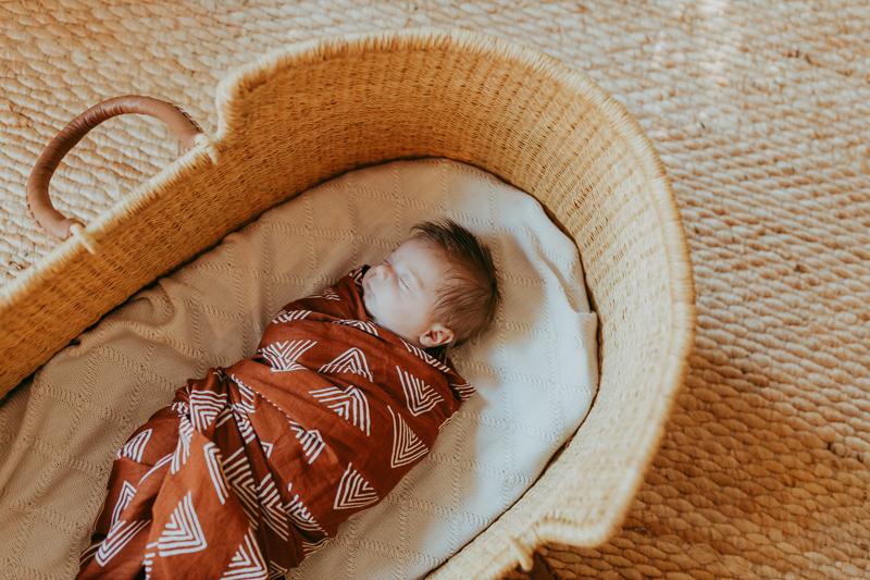 Newborn Photography, baby asleep in basket
