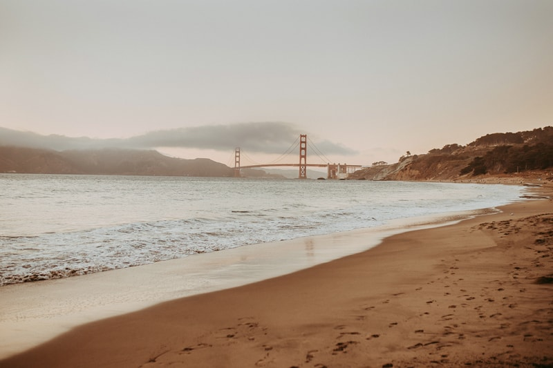 Travel Photography, bay shot of the golden gate bridge